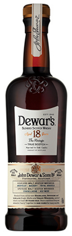 Dewars Scotch 18 Year